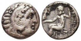 Kings of Macedon. Alexander III 'the Great' (336-323 BC). AR Drachm Condition: Very Fine    Weight: 3,2 gr Diameter: 15 mm