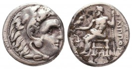 Kings of Macedon. Alexander III 'the Great' (336-323 BC). AR Drachm Condition: Very Fine    Weight: 4,1 gr Diameter: 16 mm
