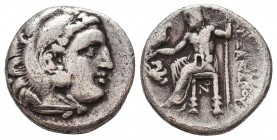 Kings of Macedon. Alexander III 'the Great' (336-323 BC). AR Drachm Condition: Very Fine    Weight: 3,8 gr Diameter: 16 mm