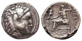 Kings of Macedon. Alexander III 'the Great' (336-323 BC). AR Drachm Condition: Very Fine    Weight: 4 gr Diameter: 16 mm