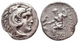 Kings of Macedon. Alexander III 'the Great' (336-323 BC). AR Drachm Condition: Very Fine    Weight: 3,8 gr Diameter: 17 mm