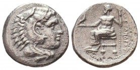 Kings of Macedon. Alexander III 'the Great' (336-323 BC). AR Drachm Condition: Very Fine    Weight: 3,9 gr Diameter: 17 mm