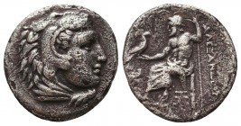 Kings of Macedon. Alexander III 'the Great' (336-323 BC). AR Drachm Condition: Very Fine    Weight: 3,7 gr Diameter: 18 mm