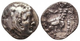 Kings of Macedon. Alexander III 'the Great' (336-323 BC). AR Drachm Condition: Very Fine    Weight: 3,7 gr Diameter: 17 mm