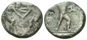 Aspendos , Pamphylia. AR c. 380-325 BC Condition: Very Fine    Weight: 9,6 gr Diameter: 21 mm