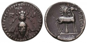 Ephesos AR Drachm, c. 202-150 BC Condition: Very Fine    Weight: 4 gr Diameter: 17 mm