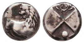 Thrace, Cherronesos. Ca. 400-350 B.C. AR Condition: Very Fine    Weight: 2,2 gr Diameter: 11 mm