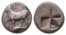 Byzantion , Thrace. AR Siglos c. 340-320 BC. Condition: Very Fine    Weight: 2,3 gr Diameter: 12 mm