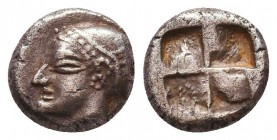 Greek AR Silver Obol, Ca. 350-300 BC.  Condition: Very Fine    Weight: 1.3 gr Diameter: 9 mm