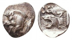 Greek AR Silver Obol, Ca. 350-300 BC.  Condition: Very Fine    Weight: 0.4 gr Diameter: 8 mm