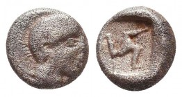 Greek AR Silver Obol, Ca. 350-300 BC.  Condition: Very Fine    Weight: 0,7 gr Diameter: 7 mm