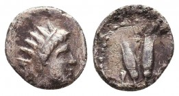 Greek AR Silver Obol, Ca. 350-300 BC.  Condition: Very Fine    Weight: 0,7 gr Diameter: 10 mm