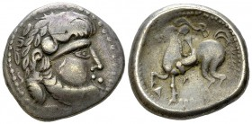 Eastern Celts AR Tetradrachm, B-Reiter type 