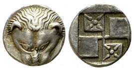 Pantikapaion AR Diobol, c. 450-438/7 BC 