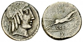 C. Marcius Censorinus AR Denarius, 88 BC 