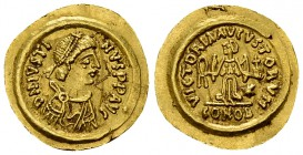 Lombards, AV Tremissis, c. 568-690 AD 