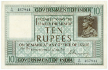 INDIEN, Government of India, 10 Rupee ND (1917-30).