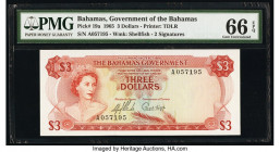 Bahamas Bahamas Government 3 Dollars 1965 Pick 19a PMG Gem Uncirculated 66 EPQ.   HID09801242017  © 2020 Heritage Auctions | All Rights Reserved