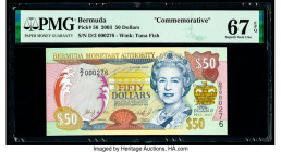 Bermuda Monetary Authority 50 Dollars 2003 Pick 56 Commemorative PMG Superb Gem Unc 67 EPQ.   HID09801242017  © 2020 Heritage Auctions | All Rights Re...