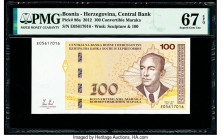 Bosnia - Herzegovina Central Bank 100 Convertible Maraka 2012 Pick 86a PMG Superb Gem Unc 67 EPQ.   HID09801242017  © 2020 Heritage Auctions | All Rig...