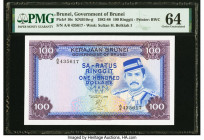 Brunei Government of Brunei 100 Ringgit 1982-88 Pick 10c KNB10 PMG Choice Uncirculated 64.   HID09801242017  © 2020 Heritage Auctions | All Rights Res...