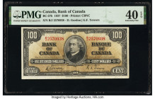 Canada Bank of Canada $100 2.1.1937 Pick 64b BC-27b PMG Extremely Fine 40 EPQ.   HID09801242017  © 2020 Heritage Auctions | All Rights Reserved