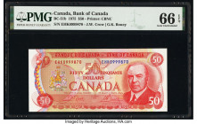 Canada Bank of Canada $50 1975 Pick 90b BC-51b PMG Gem Uncirculated 66 EPQ.   HID09801242017  © 2020 Heritage Auctions | All Rights Reserved