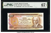 Canada Bank of Canada $100 1975 Pick 91b BC-52b PMG Superb Gem Unc 67 EPQ.   HID09801242017  © 2020 Heritage Auctions | All Rights Reserved