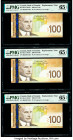 Canada Bank of Canada $100 2003-06 Pick 105c BC-66aA Replacement Three Consecutive Examples PMG Gem Uncirculated 65 EPQ (3).   HID09801242017  © 2020 ...