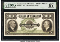 Canada Montreal, PQ- Bank of Montreal $100 2.1.1931 Pick S557 Ch.# 505-58-10P1 Front Proof PMG Superb Gem Unc 67 EPQ.   HID09801242017  © 2020 Heritag...