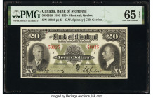 Canada Montreal, PQ- Bank of Montreal $20 3.1.1938 Pick S563b Ch.# 505-62-06 PMG Gem Uncirculated 65 EPQ.   HID09801242017  © 2020 Heritage Auctions |...