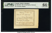 Canada Dobie & Badgley 15 Sols 1.5.1790 QC-130-10-02 PMG Choice Uncirculated 64 EPQ.   HID09801242017  © 2020 Heritage Auctions | All Rights Reserved
