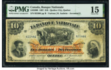 Canada Quebec City, PQ- Banque Nationale $10 2.1.1897 Pick S867b Ch.# 510-20-08 PMG Choice Fine 15. Tape repairs.  HID09801242017  © 2020 Heritage Auc...
