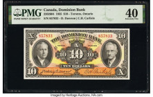 Canada Toronto, ON- Dominion Bank $10 2.1.1935 Pick S1034 Ch.# 220-26-04 PMG Extremely Fine 40.   HID09801242017  © 2020 Heritage Auctions | All Right...
