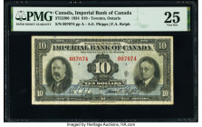 Canada Toronto, ON- Imperial Bank of Canada $10 1.11.1934 Pick S1145Fa Ch.# 375-22-06 PMG Very Fine 25.   HID09801242017  © 2020 Heritage Auctions | A...