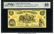 Canada Toronto, ON- Bank of Toronto $5 2.1.1937 Pick S691b Ch.# 715-24-04 PMG Extremely Fine 40.   HID09801242017  © 2020 Heritage Auctions | All Righ...