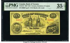 Canada Toronto, ON- Bank of Toronto $10 2.1.1937 Pick S692c Ch.# 715-24-12 PMG Choice Very Fine 35 EPQ.   HID09801242017  © 2020 Heritage Auctions | A...