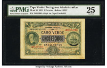 Cape Verde Banco Nacional Ultramarino 5 Escudos 1.1.1921 Pick 33 PMG Very Fine 25.   HID09801242017  © 2020 Heritage Auctions | All Rights Reserved