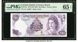 Cayman Islands Currency Board 40 Dollars 1974 (ND 1981) Pick 9a PMG Gem Uncirculated 65 EPQ.   HID09801242017  © 2020 Heritage Auctions | All Rights R...