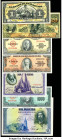 Cuba, Mexico and Spain Group Lot of 7 Examples Fine-Crisp Uncirculated. Tape and residue present on the Mexico 1 Peso.  HID09801242017  © 2020 Heritag...