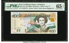 East Caribbean States Central Bank, Dominica 100 Dollars ND (2000) Pick 41d PMG Gem Uncirculated 65 EPQ.   HID09801242017  © 2020 Heritage Auctions | ...
