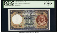 Egypt National Bank of Egypt 1 Pound 3.6.1948 Pick 22d PCGS Very Choice New 64PPQ.   HID09801242017  © 2020 Heritage Auctions | All Rights Reserved