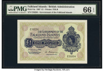 Falkland Islands Government of the Falkland Islands 1 Pound 2.1.1967 Pick 8a PMG Gem Uncirculated 66 EPQ.   HID09801242017  © 2020 Heritage Auctions |...
