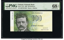 Finland Finlands Bank 100 Markkaa 1986 Pick 115a PMG Superb Gem Unc 68 EPQ.   HID09801242017  © 2020 Heritage Auctions | All Rights Reserved