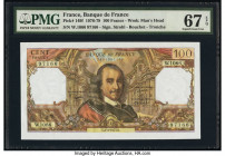 France Banque de France 100 Francs 3.3.1977 Pick 149f PMG Superb Gem Unc 67 EPQ.   HID09801242017  © 2020 Heritage Auctions | All Rights Reserved