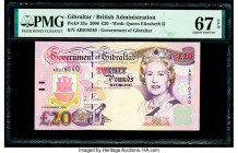 Gibraltar Government of Gibraltar 20 Pounds 1.12.2006 Pick 33a PMG Superb Gem Unc 67 EPQ.   HID09801242017  © 2020 Heritage Auctions | All Rights Rese...