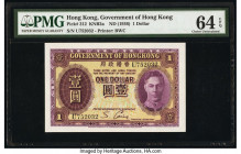Hong Kong Government of Hong Kong 1 Dollar ND (1936) Pick 312 KNB2a PMG Choice Uncirculated 64 EPQ.   HID09801242017  © 2020 Heritage Auctions | All R...