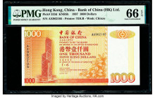 Hong Kong Bank of China (HK) Ltd. 1000 Dollars 1.7.1997 Pick 333d KNB5h PMG Gem Uncirculated 66 EPQ.   HID09801242017  © 2020 Heritage Auctions | All ...