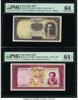Iran Bank Melli 10; 100 Rials ND (1944); ND (1951) Pick 40; 57 Two Examples PMG Choice Uncirculated 64; Choice Uncirculated 64 EPQ.   HID09801242017  ...