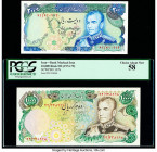 Iran Bank Markazi 200; 10,000 Rials ND (1974-79) Pick 103a; 107b Two Examples About Uncirculated; PCGS Choice About New 58.   HID09801242017  © 2020 H...